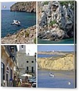 Menorca Collage 02 - Labelled Acrylic Print
