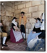 Menorquins Dress And Suit  Back In Time Xviii Century Acrylic Print