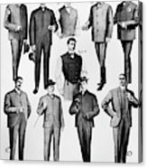 Men's Fashion, 1902 Acrylic Print