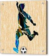 Mens Soccer Acrylic Print