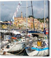Menton, France.  View Over Harbour Acrylic Print