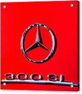 Mercedes 300 Sl Emblem -0121c Acrylic Print