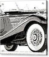 Mercedes 540k  - Parallel Hatching Acrylic Print