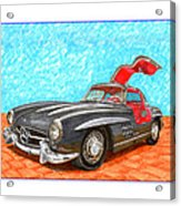 Mercedes  Benz 300 S L Gull Wing Acrylic Print
