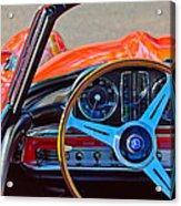 Mercedes-benz 300 Sl Steering Wheel Emblem Acrylic Print