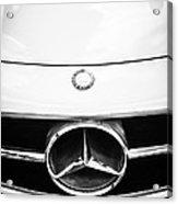 Mercedes-benz Grille Emblem -0230bw Acrylic Print