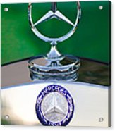 Mercedes Benz Hood Ornament 3 Acrylic Print