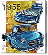 Mercedes Benz Racing Car Transport Acrylic Print