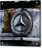 Mercedes Benz Shabby Chic Acrylic Print