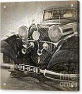 Mercedes Benz Vintage Acrylic Print