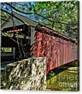 Mercers Mill Covered Bridge Acrylic Print