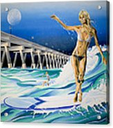 Mercers Surfer Acrylic Print