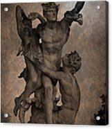 Mercury Carrying Eurydice To The Underworld Acrylic Print