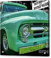 Mercury Truck Bw Background Acrylic Print