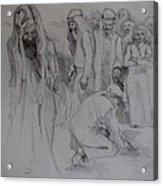 Mercy Sketch Acrylic Print by Jani Freimann