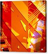 Merged - Arched Orange Acrylic Print