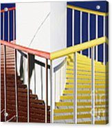 Merging Steps Acrylic Print by Robert Woodward