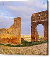Merinid Tombs Ruins In Fes In Morocco Acrylic Print