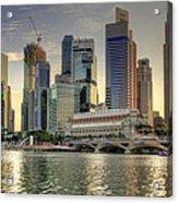 Merlion Park In Singapore 3 Acrylic Print