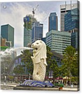 Merlion Park In Singapore Acrylic Print
