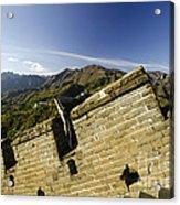 Merlon View At The Great Wall 1046 Acrylic Print
