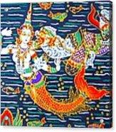 Mermaid And Beast  Acrylic Print
