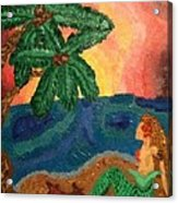 Mermaid Beach Acrylic Print by Oasis Tone