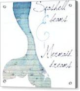 Mermaid Dreams Acrylic Print