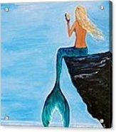 Mermaid Glam Day Acrylic Print