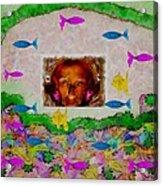 Mermaid In Her Cave Acrylic Print