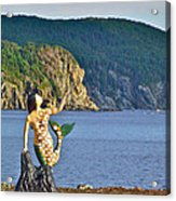 Mermaid On A Dock In Twillingate Harbour-nl Acrylic Print