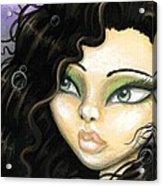 Mermaid Tia Acrylic Print by Elaina  Wagner