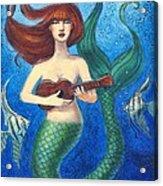 Mermaid Ukulele Angels Acrylic Print