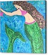 Mermaid With Star Fish  Acrylic Print