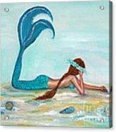 Mermaids Exist Acrylic Print