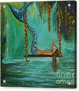 Mermaids Relaxing Evening Acrylic Print