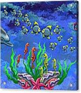 Mermaid's World Acrylic Print by Jenny Kirby