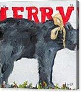 Merry Bear Acrylic Print