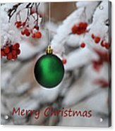 Merry Christmas 4 Acrylic Print