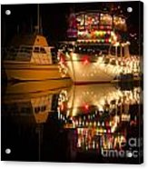 Merry Christmas Bandon By The Sea 1 Acrylic Print