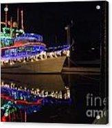Merry Christmas Bandon By The Sea 2 Acrylic Print