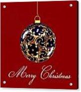 Merry Christmas Bauble Acrylic Print