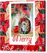 Merry Christmas From An Angel Acrylic Print