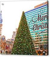 Merry Christmas From Philadelphia Acrylic Print