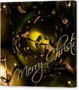 Merry Christmas Greeting Acrylic Print
