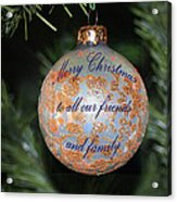 Merry Christmas Greetings Acrylic Print