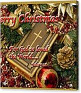 Merry Christmas - John 3 V16 Acrylic Print
