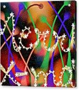 Merry Christmas Acrylic Print by Karunita Kapoor