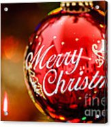 Merry Christmas Ornament Acrylic Print