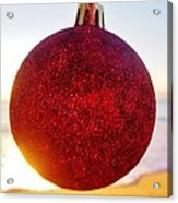 Merry Christmas Ornament Sunrise 11 12/17 Acrylic Print